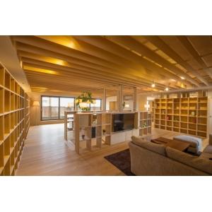 広島の新築・リフォーム・増改築「プレザーホーム」 展示場「ふれあいホームタウンみどりまち展示場」画像4【デザイン&木材をふんだんに使ったゆったりとした空間】