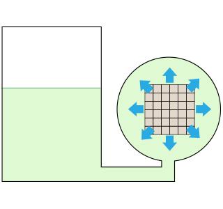 広島の新築・リフォーム・増改築「プレザーホーム」 加圧注入処理「②液充満」